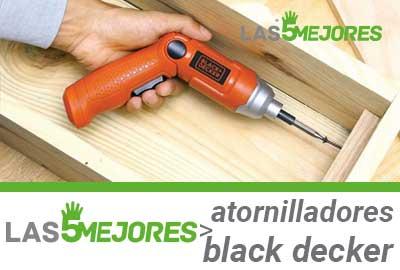 Mejores destornilladores electricos black decker
