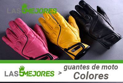 Mejores guantes de color para moto