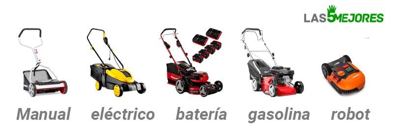 Cortacesped electrico, manual, de gasolina,de bateria o un robot