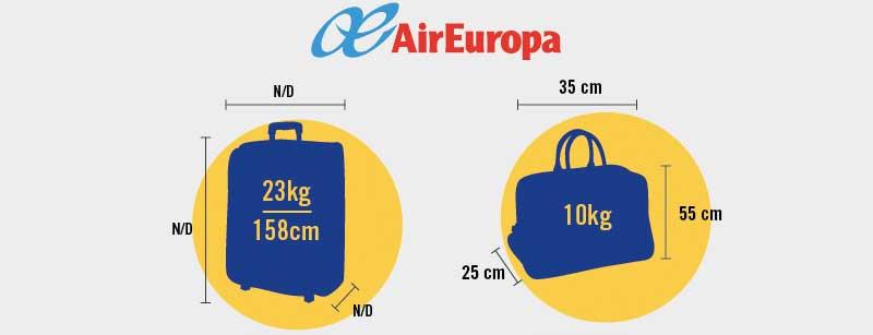 aireuropa medidas equipaje de mano maleta de cabina