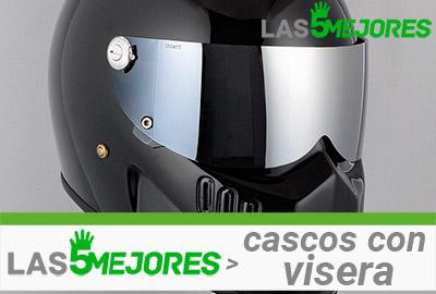 casco con visera solar reflectante