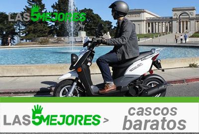 casco barato para scooter de ciudad