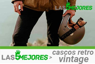 casco retro estilo vintage para moto