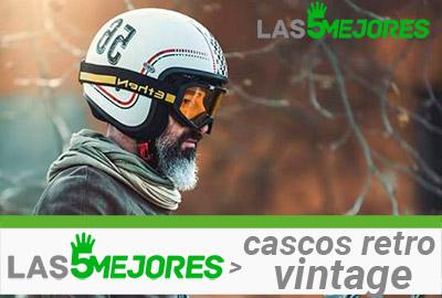casco retro vintage con gafas