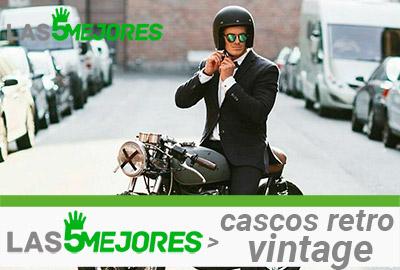 casco retro vintage de moto