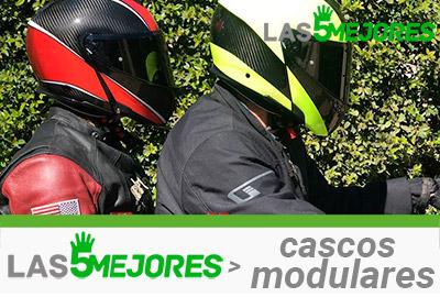 cascos modulares para moto