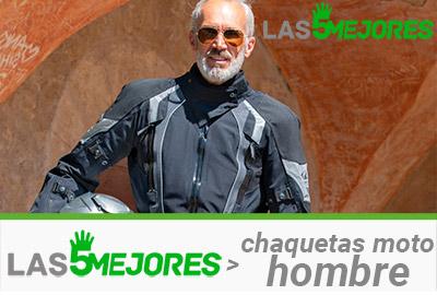 chaqueta de moto para hombre perforada