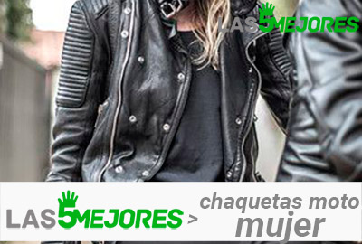 chaqueta moto mujer invierno