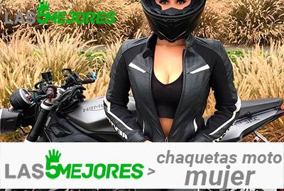 chaqueta de moto de mujer
