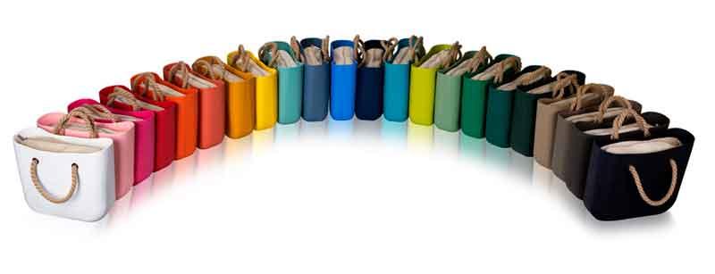 Gama de colores de la marca O bag