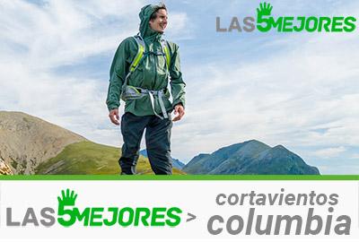 cortavientos marca columbia de trail running y senderismo