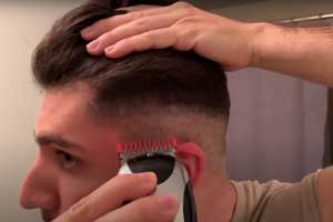 corte de pelo con máquina