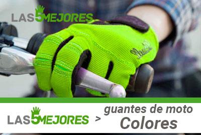 Guantes de colores para moto
