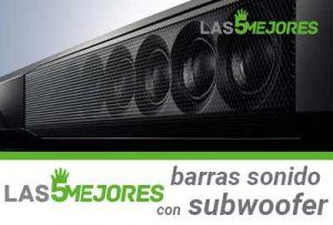 mejores barras de sonido con subwoofer integrado