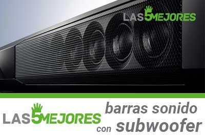 guia compra barras de sonido con subwoofer integrado