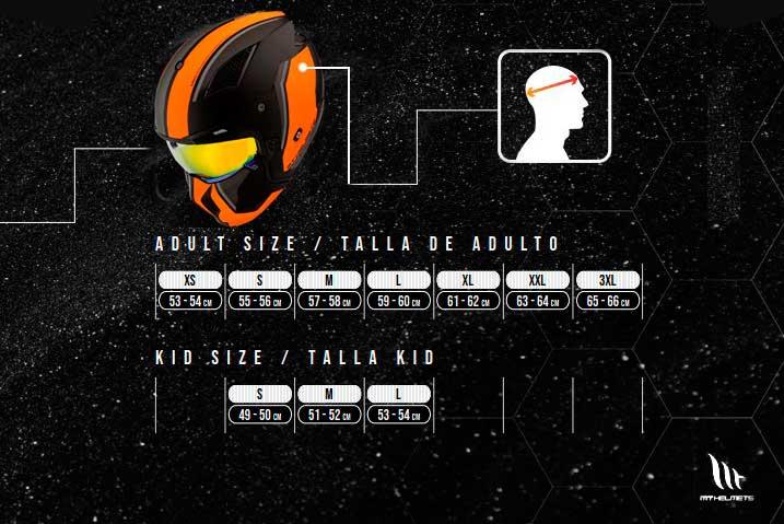 Guía Tallas Mt helmets