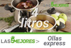 mejores ollas express 4 litros