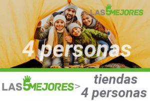 mejores tiendas de acampar para 4 personas
