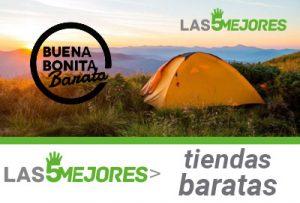 Mejores tiendas de acampar baratas