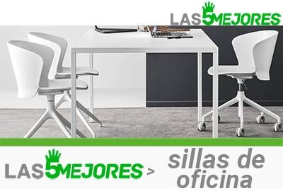 sillas de oficina de diseño blancas