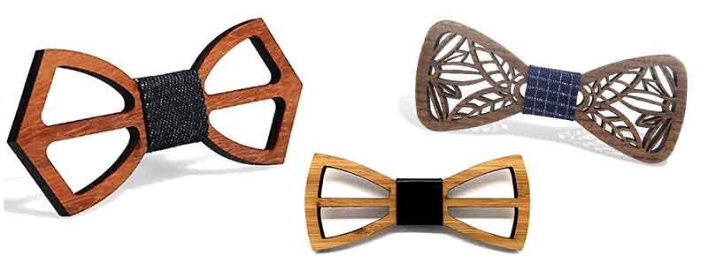 Tipos de pajaritas de madera troqueladas que existen.