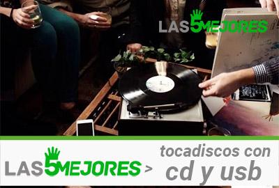 mejores tocadiscos compatibles con cd